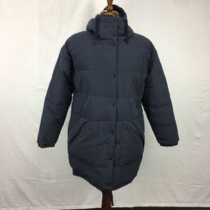 Abercrombie & Fitch Navy Long Puffer Coat
